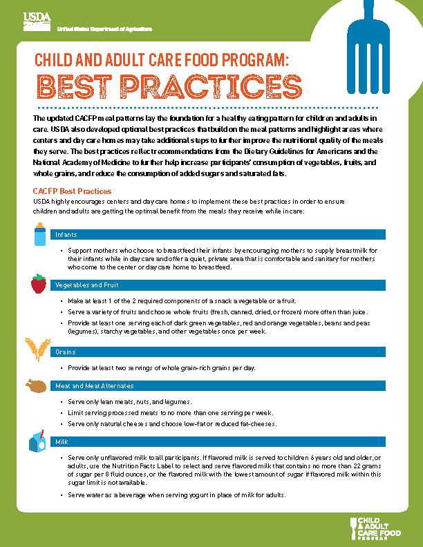CACFP: Best Practices